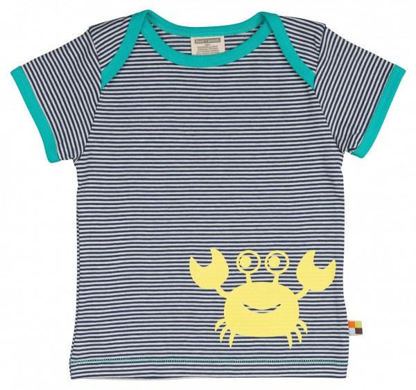 LOUD+PROUD T-Shirt Ringel Krabbe Ultramarin
